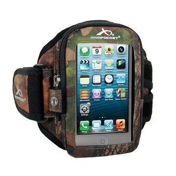 iPhone 5 / 5S / SE Armpocket i-10 Käsivarsikotelo S Maastokuvio Puu