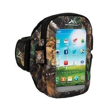 iPhone 5 / 5S / SE Armpocket i-30 Käsivarsikotelo S Maastokuvio Puu