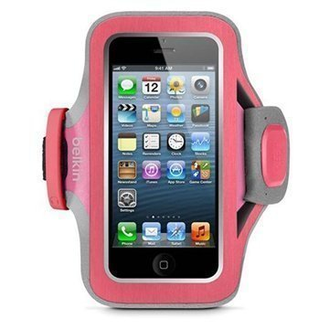 iPhone 5 / 5S / SE Belkin Slim Fit Neopreeni Urheilukotelo Pinkki / Violetti