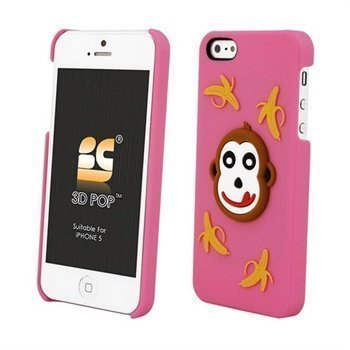 iPhone 5 / 5S / SE Beyond Cell 3D Pop Monkey Cover Pink