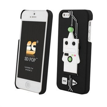 iPhone 5 / 5S / SE Beyond Cell 3D Pop Robot Cover Black