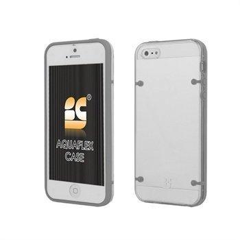 iPhone 5 / 5S / SE Beyond Cell AquaFlex TPU-Kotelo Harmaa / Valkoinen
