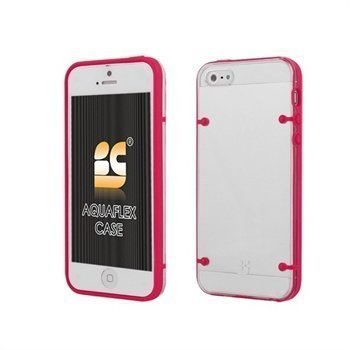 iPhone 5 / 5S / SE Beyond Cell AquaFlex TPU-Kotelo Kuuma Pinkki / Kirkas
