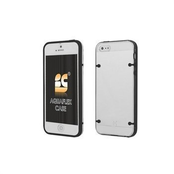 iPhone 5 / 5S / SE Beyond Cell AquaFlex TPU-Kotelo Musta / Kirkas