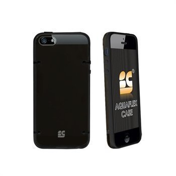 iPhone 5 / 5S / SE Beyond Cell AquaFlex TPU-Kotelo Musta / Savu