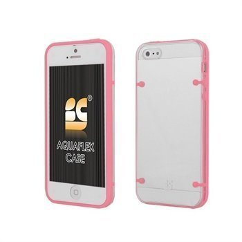 iPhone 5 / 5S / SE Beyond Cell AquaFlex TPU-Kotelo Pinkki / Kirkas