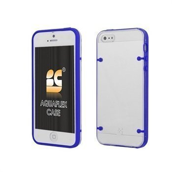 iPhone 5 / 5S / SE Beyond Cell AquaFlex TPU-Kotelo Sininen / Kirkas