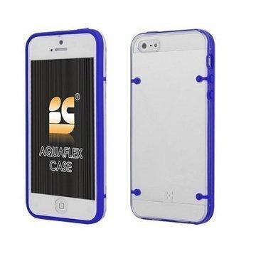 iPhone 5 / 5S / SE Beyond Cell AquaFlex TPU-Kotelo Tummansininen / Kirkas