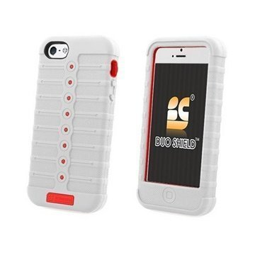 iPhone 5 / 5S / SE Beyond Cell Duo Shield Hybrid Kotelo Valkoinen / Punainen