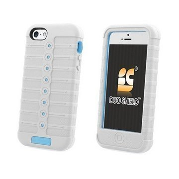 iPhone 5 / 5S / SE Beyond Cell Duo Shield Hybrid Kotelo Valkoinen / Vaalean Sininen