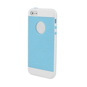 iPhone 5 / 5S / SE Beyond Cell InFlex Snap-on Cover White / Light Blue