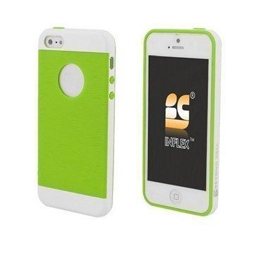iPhone 5 / 5S / SE Beyond Cell InFlex TPU Kotelo Vihreä / Valkoinen