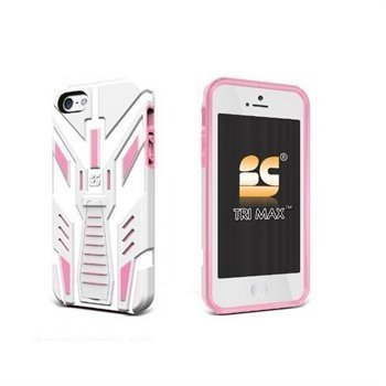 iPhone 5 / 5S / SE Beyond Cell TRI Max Napsautuskuori Valkoinen / Vaaleanpunainen