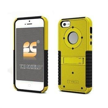 iPhone 5 / 5S / SE Beyond Cell Tri Shield Napsautuskuori Keltainen / Musta