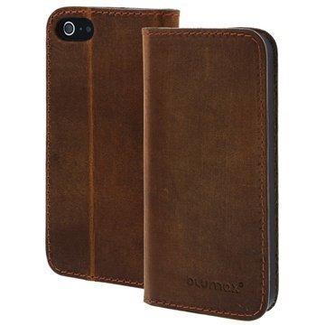 iPhone 5 / 5S / SE Blumax Lucca Wallet Nahkakotelo Tupakka Antiikki