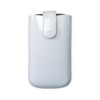 iPhone 5 / 5S / SE Bugatti Slim Leather Case Glossy White