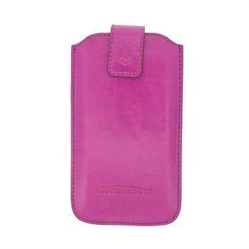 iPhone 5 / 5S / SE Commander Buffalo Nahkakotelo Purppura