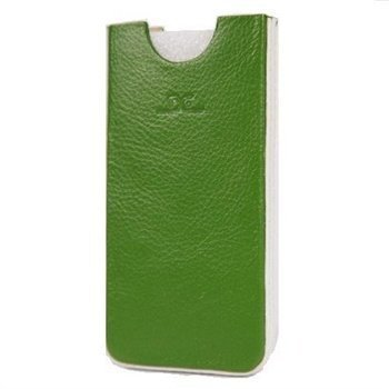 iPhone 5 / 5S / SE DC Chest Leather Case Green / White