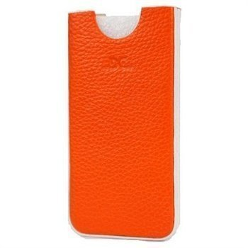 iPhone 5 / 5S / SE DC Chest Leather Case Orange / White