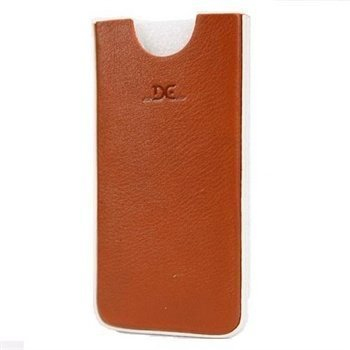iPhone 5 / 5S / SE DC Chest Leather Case Tobacco / White