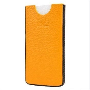 iPhone 5 / 5S / SE DC Chest Leather Case Yellow / Black