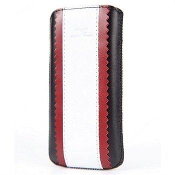 iPhone 5 / 5S / SE DC Kasc Pehmeä Nahkakotelo Musta / Valkoinen / Punainen