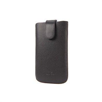 iPhone 5 / 5S / SE DC Slim Nahkakotelo Musta / Punainen
