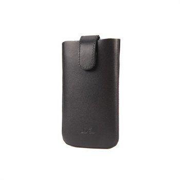 iPhone 5 / 5S / SE DC Slim Nahkakotelo Musta / Turkoosi