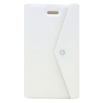 iPhone 5 / 5S / SE Fenice Clutch Wallet Nahkakotelo Valkoinen