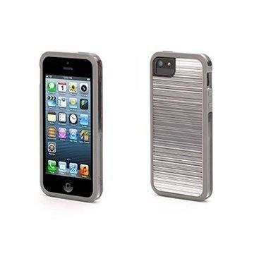 iPhone 5 / 5S / SE Griffin Abstract Separates Kotelo Harmaa / Valkoinen