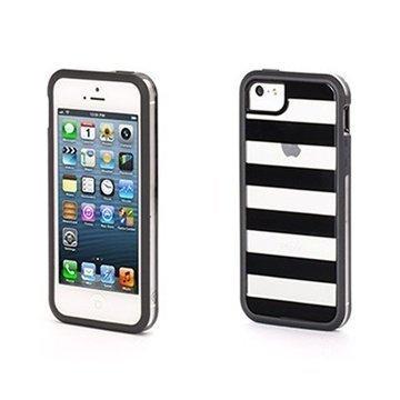 iPhone 5 / 5S / SE Griffin Cabana Separates Kotelo Musta / Kirkas