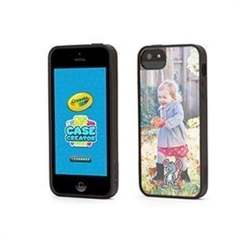 iPhone 5 / 5S / SE Griffin Crayola Case Creator Suojakotelo Musta / Kirkas