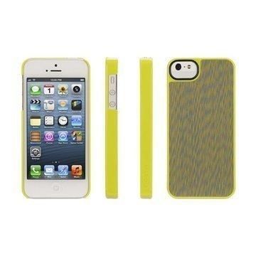 iPhone 5 / 5S / SE Griffin Dobby Dot Layered Trend Takakuori Keltainen
