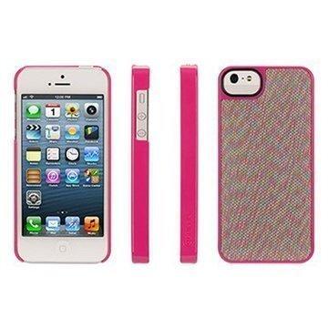 iPhone 5 / 5S / SE Griffin Dobby Dot Layered Trend Takakuori Pinkki