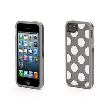 iPhone 5 / 5S / SE Griffin Dots All Folks Separates Kotelo Harmaa / Valkoinen
