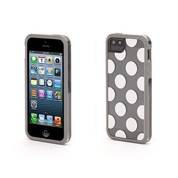 iPhone 5 / 5S / SE Griffin Dots All Folks Separates Kotelo Harmaa / Valkoinen