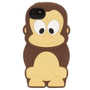 iPhone 5 / 5S / SE Griffin Kazoo Silikoninen Suojakuori Apina