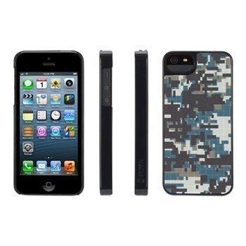 iPhone 5 / 5S / SE Griffin Pixelcrash QRCamo Kotelo Sininen / Harmaa