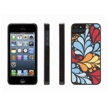 iPhone 5 / 5S / SE Griffin Plume Layered Trend Takakuori Turkoosi / Musta