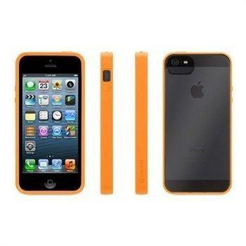 iPhone 5 / 5S / SE Griffin Reveal Kotelo Oranssi / Läpinäkyvä