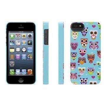 iPhone 5 / 5S / SE Griffin Wise Eyes Kotelo Turkoosi / Vaaleanpunainen