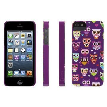 iPhone 5 / 5S / SE Griffin Wise Eyes Kotelo Violetti / Vaaleanpunainen