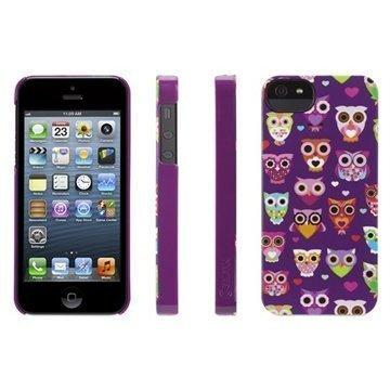 iPhone 5 / 5S / SE Griffin Wise Eyes Kotelo Violetti / Vaaleanpunainen