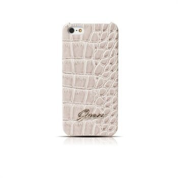 iPhone 5 / 5S / SE Guess Croco Suojakotelo Beige
