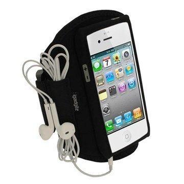 iPhone 5 / 5S / SE Igadgitz Neoprene Sports Jogging Käsivarsihihna Musta