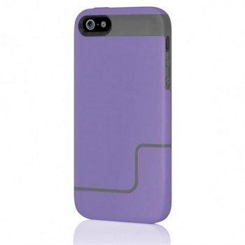 iPhone 5 / 5S / SE Incipio EDGE Pro Kova Kotelo Purppura / Harmaa