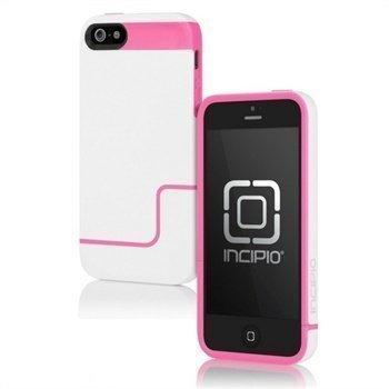 iPhone 5 / 5S / SE Incipio EDGE Pro Kova Kotelo Valkoinen / Neon Vaaleanpunainen