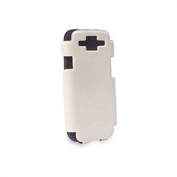 iPhone 5 / 5S / SE Konkis Flip Kannellinen Kotelo Valkoinen