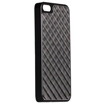 iPhone 5 / 5S / SE Krusell AluCover Musta Ristikko