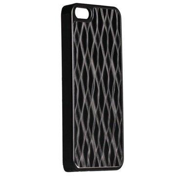 iPhone 5 / 5S / SE Krusell AluCover Suojakuori Musta Aalto